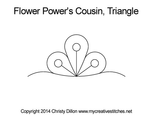 Flower power cousin triangle quilt pattern
