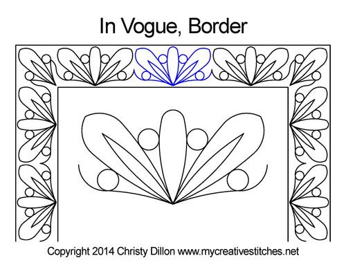 In vogue digital border quilting patterns