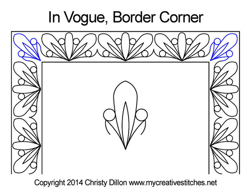 In vogue border corner quilting designs