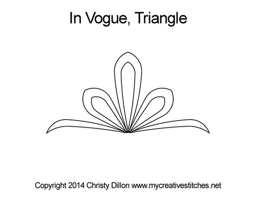 In Vogue digitized triangle quilt pattern