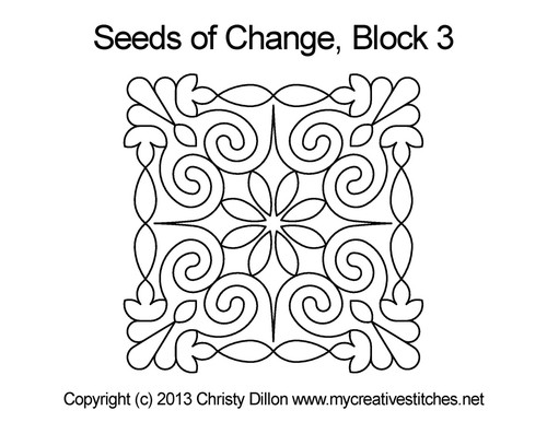 Seeds of change square block 3 quilt pattern