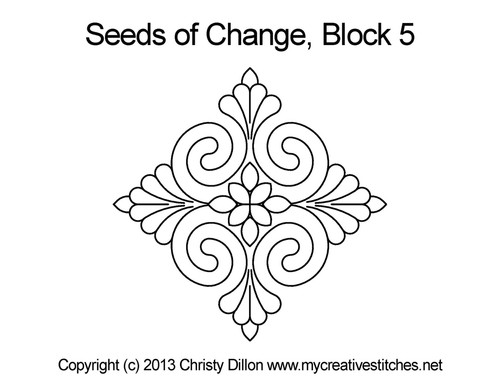 Seeds of change triangle block 5 quilt pattern