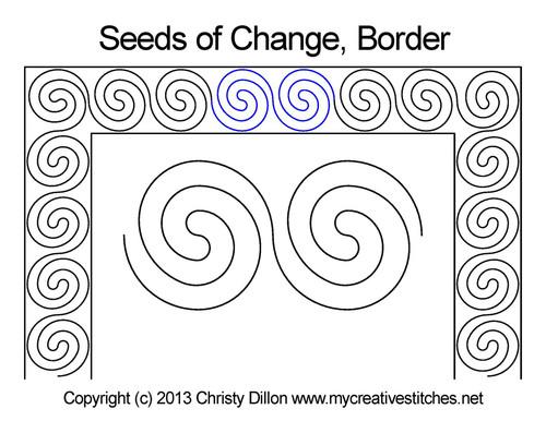Seeds of change border quilt pattern