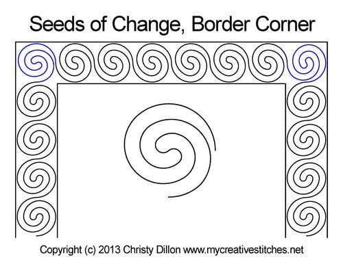 Seeds of change border & corner quilt pattern