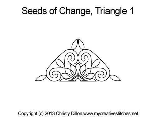 Seeds of change quilting pattern for triangle 1