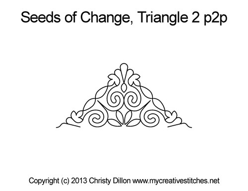 Seeds of change triangle 2 p2p quilt pattern