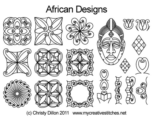 African Designs Set