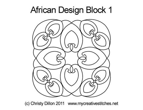 African Designs Block 1
