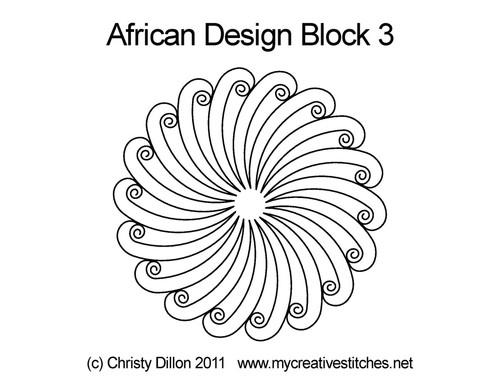 African design round block 3 quilt pattern