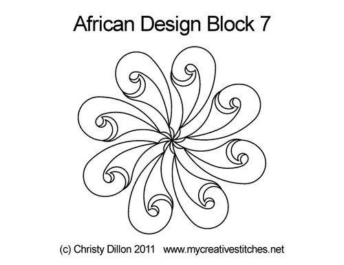 African design block 7 quilting design