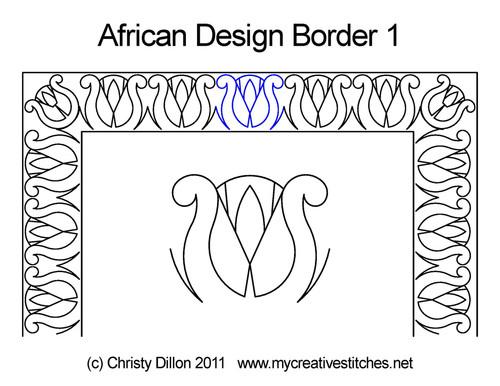 African design border 1 quilting
