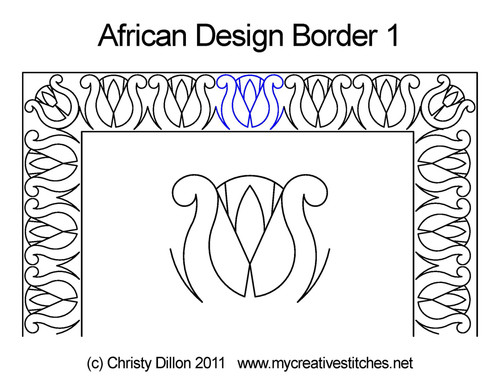 African design border 1 quilting