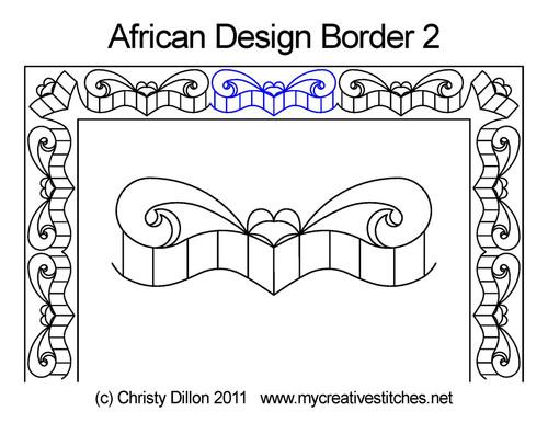 African Designs Border 2