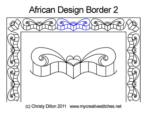 African design border 2 quilting