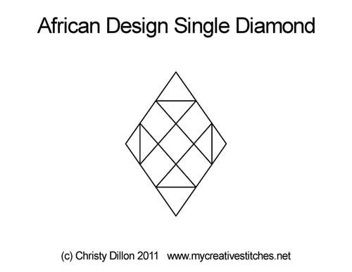 African design single diamond quilt design