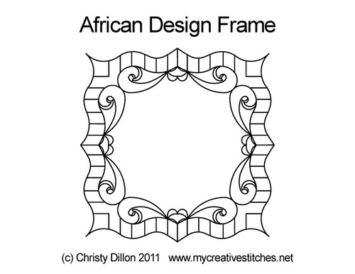 African design computerized frame quilting