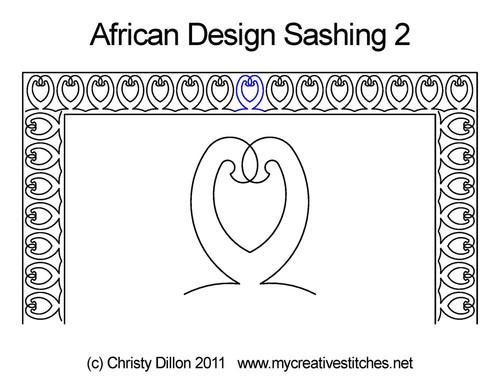 African Designs Sashing 2