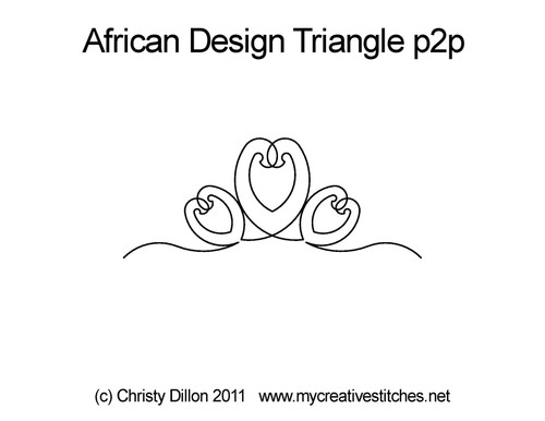African triangle point-to-point quilt design