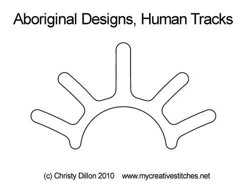 Aboriginal designs human tracks quilting