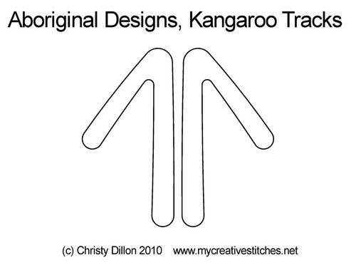 Aboriginal designs kangaroo tracks quilting