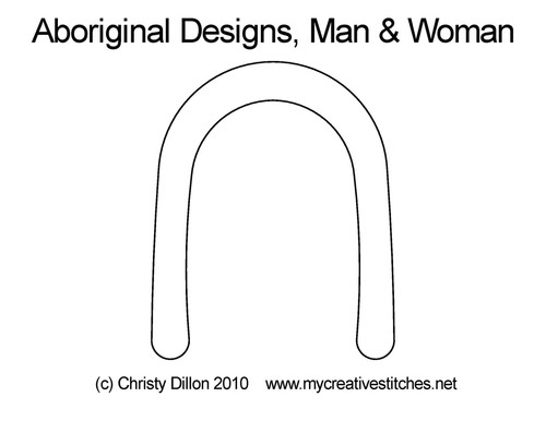 Aboriginal designs Man & woman quilt design
