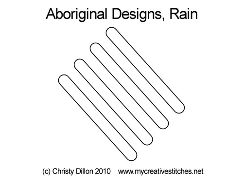 Aboriginal designs digitized rain quilting