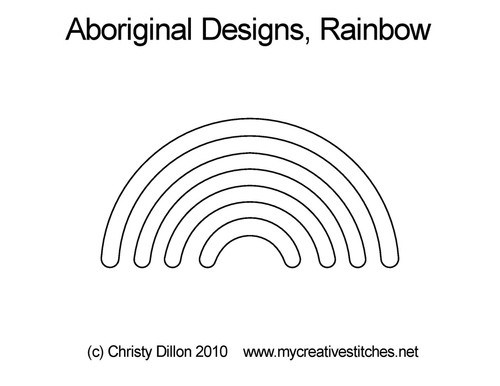 Aboriginal designs, digitized rainbow quilt design