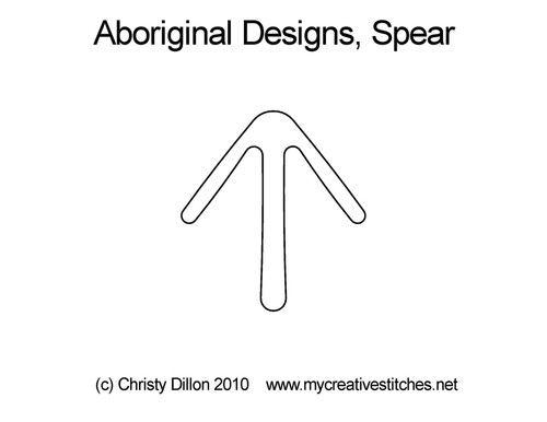 Aboriginal designs, digitized spear quilt design