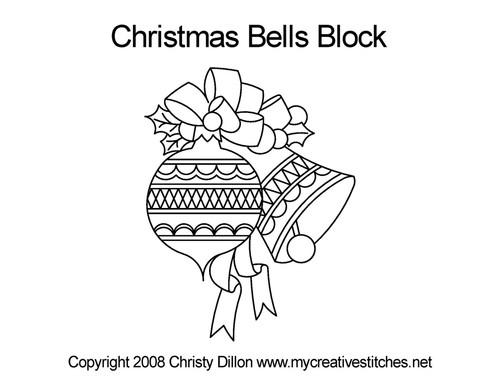 Christmas bells block quilt pattern