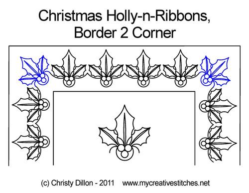 Christmas Holly-n-Ribbons Corner 2