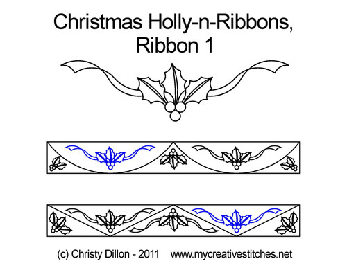 Christmas holly-n-ribbons ribbons 1 quilt ideas