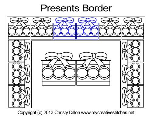 Presents border quilting designs