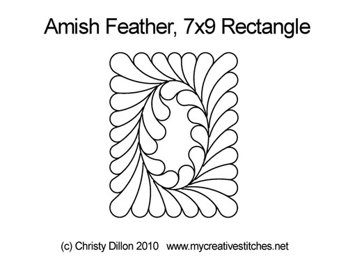Amish feather 7*9 rectangle quilt design