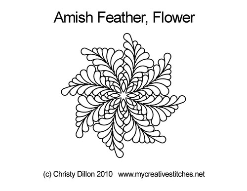 Amish feather flower quilting pattern