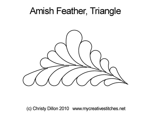 Amish feather triangle quilting pattern