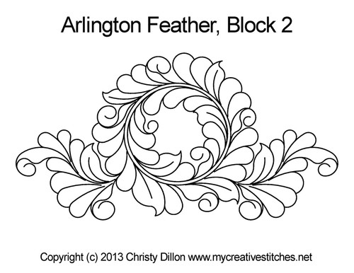 Arlington feather block 2 quilting pattern