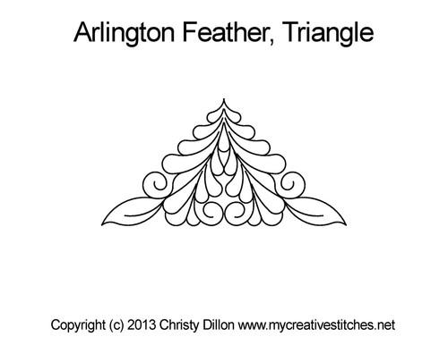 Arlington feather digitized triangle quilt design