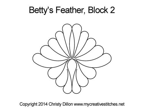 Betty's feather block 2 quilting design
