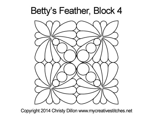 Betty's feather block 4 quilting designs