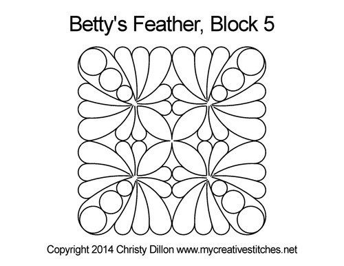 Betty's feather block 5 quilting design