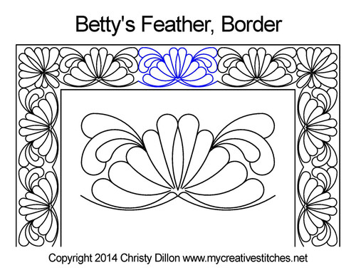 Betty's feather border quilting design