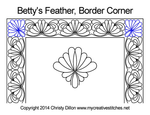 Betty's feather border & corner quilt pattern