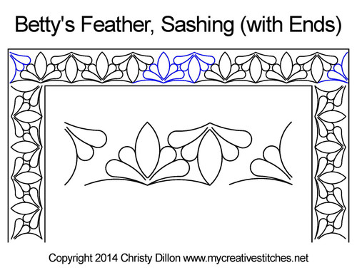 Betty's feather sashing quilting design