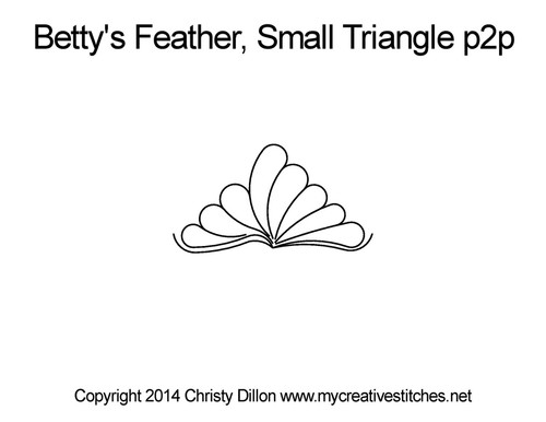 Betty's feather small triangle p2p quilt pattern