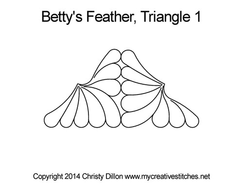 Betty's feather triangle 1 quilting design