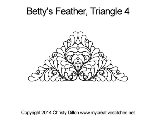 Betty's feather triangle 4 quilting design