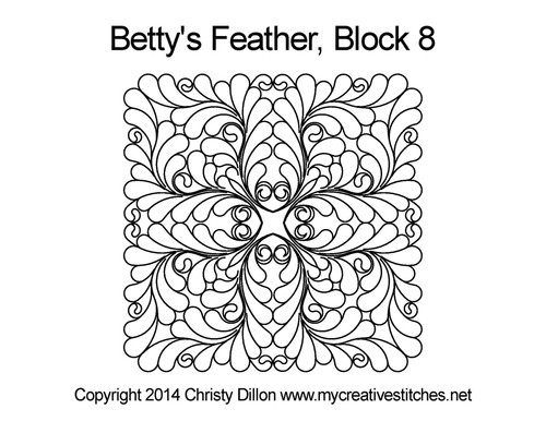 Betty's Feather Block 8