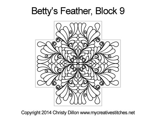 Betty's Feather Block 9