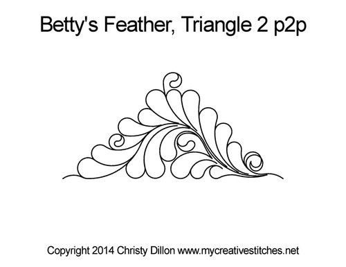 Betty's feather triangle 2 p2p quilt pattern