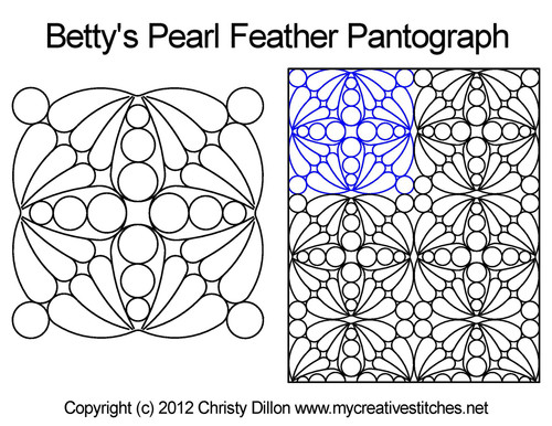 Betty's pearl feather quilting pantographs patterns